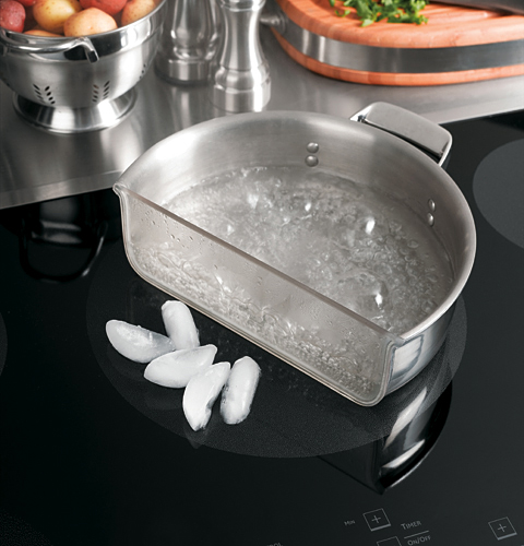 induction cooktop with ice