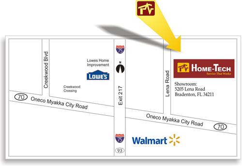 Appliance Showroom Map