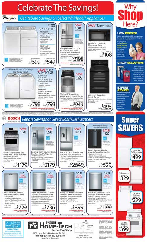 Appliances on Sale at Home-Tech