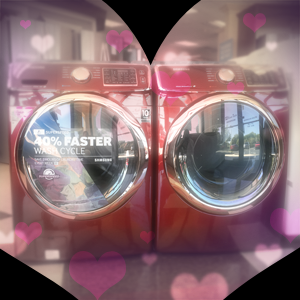 Steamy Couples Come In Red When It Comes to Washers & Dryers