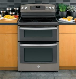 GE free standing electric double oven