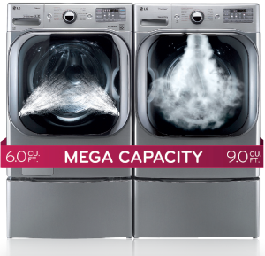 The More the Merrier. LG Mega Capacity Washer and Dryer Package Deal
