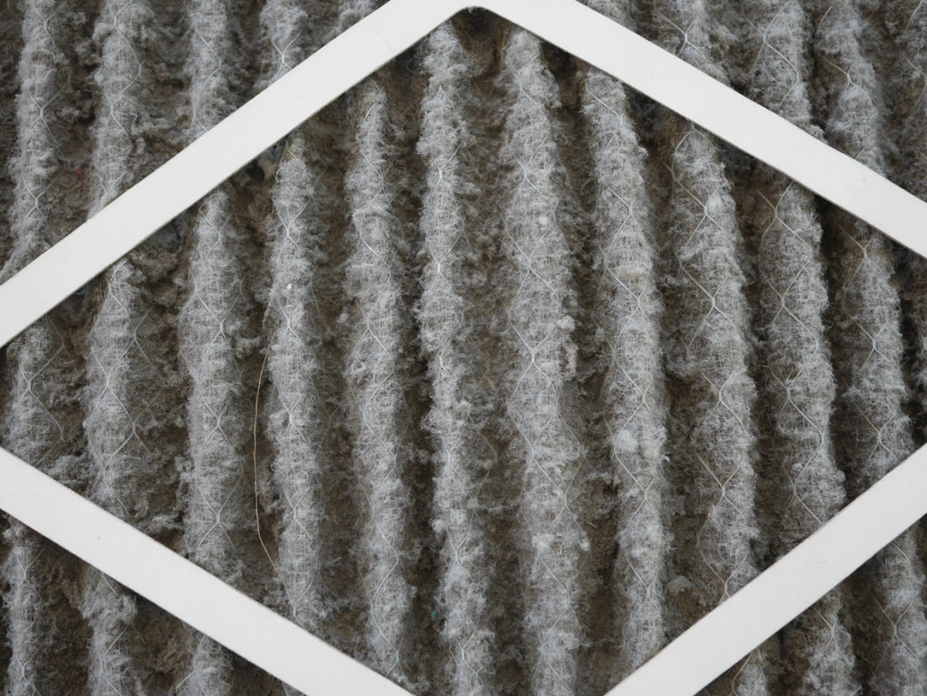 dirty home air conditioner filter