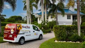 home-tech van in front of house